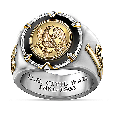 150th Anniversary U.S. Civil War Men's Ring