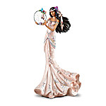 """Native American Inspired """"Radiant Beauty"""" Figurine With Dreamcatcher And Real Feathers"""