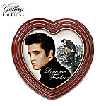 Heart-Shaped Elvis Presley Framed Canvas Print Wall Decor Love Me Tender