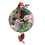 Cardinal Serenade Glass Wall Clock