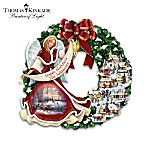 Thomas Kinkade Silent Night Personalized And Musical Angel Wreath