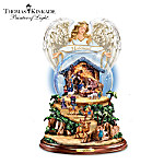 Thomas Kinkade Nativity Snowglobe: O Night Divine
