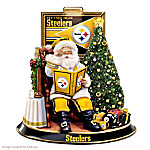 NFL Pittsburgh Steelers Talking Santa Claus Tabletop Centerpiece