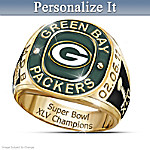 Green Bay Packers Super Bowl XLV Champs Personalized Men's Ring