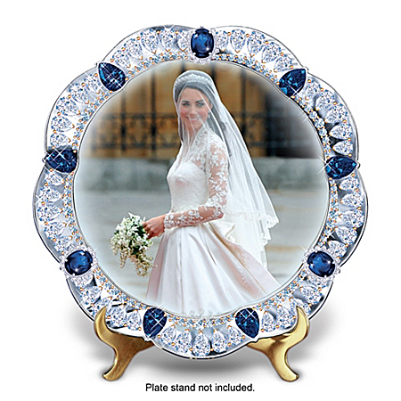 A Royal Bride: The Princess Kate Middleton Jeweled Collector Plate
