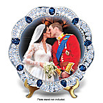 A Royal Kiss: The Prince William And Kate Middleton Wedding Collector Plate