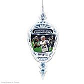 New England Patriots Super Bowl XLIX Crystal Ornament
