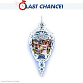New York Giants Super Bowl Champions Crystal Ornament