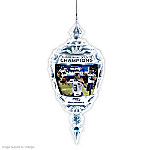 Ornament: Commemorative Seattle Seahawks Super Bowl XLVIII Crystal Ornament