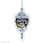 Commemorative Seattle Seahawks Super Bowl XLVIII Crystal Ornament
