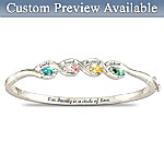 Our Family Is A Circle of Love - Personalized Birthstone Bracelet
