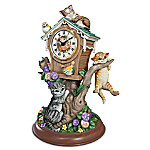 Tabletop Kitten Clock Timeless Tails