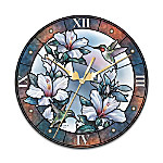Fluttering Jewels Wall Clock