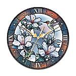Fluttering Jewels Wall Clock