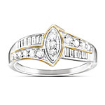 Women's Diamond Ring: The Marquise