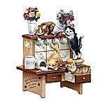 Jurgen Scholz Kitchen Capers Cat Sculpture