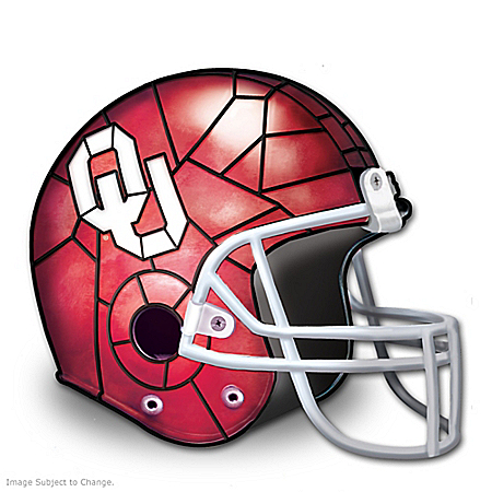 University Of Oklahoma Sooners Football Helmet-Shaped Lamp