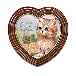 Cats Leave Paw Prints On Our Hearts Framed Canvas Print Wall Decor