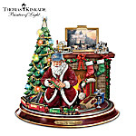 Thomas Kinkade Final Touches Of Holiday Cheer Tabletop Centerpiece