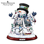 Thomas Kinkade Tabletop Snowman Sculpture: Snow Much Fun Together
