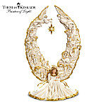 Christmas Decoration Thomas Kinkade Away In A Manger Nativity Angel Sculpture