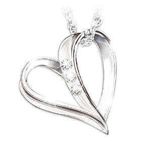 My Granddaughter, My Heart, My Love Pendant Necklace