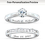 Our Forever Love Personalized Diamond Ring Set