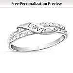 Valentines Gifts Love Personalized Name Engraved Diamond Ring