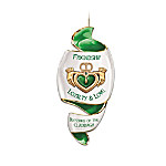Heirloom Porcelain Irish Blessing Ornament: Blessings Of The Claddagh