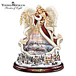 Thomas Kinkade Tabletop Angel Sculpture: Blessings Of The Season