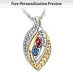 Personalized Name-Engraved Pendant Necklace: Together In Love
