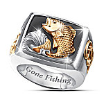 Gone Fishing Men's Ring
