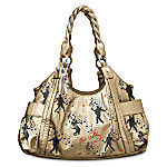 Elvis Presley Style Is Golden Gold Handbag Purse With TCB Charm