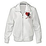 Elvis Presley Women's Hoodie Jacket: Elvis Heartthrob
