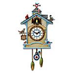 Peep's Place Birdhouse Cuckoo Clock