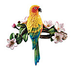 Sun Parakeet Wall Sculpture