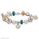 NFL Miami Dolphins #1 Fan Charm Bracelet