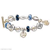 Go Seahawks! #1 Fan Charm Bracelet