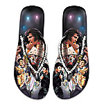Elvis Presley Women's Flip Flops Elvis Showstopper