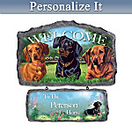 Dachshund Personalized Welcome Sign