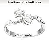 Soul Mates Personalized Diamond Ring