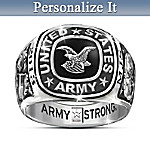 Mens Ring: Army Pride Personalized Ring