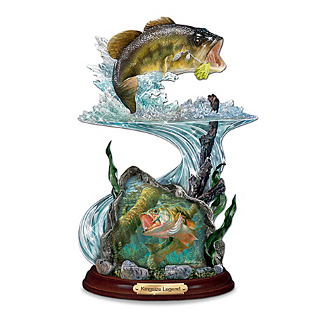 Angler's Glory Bass Fishing Figurine