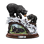 First Catch Black Bear Sculpture