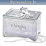 Nurses Personalized Mirrored Music Box: Reflections Of Tender Loving Care