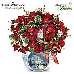 Table Centerpiece: Thomas Kinkade Bringing Holiday Cheer Table Centerpiece