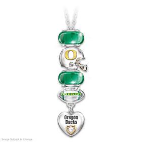 Go Ducks! #1 Fan Charm Necklace