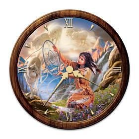 Illuminating Spirits Stained Glass Wall Clock
