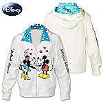 Disney Kissin Mickey And Minnie Womens Hoodie