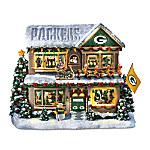 Sculpture: Green Bay Packers Twas The Night Before Christmas Talking Storyhouse Sculpture